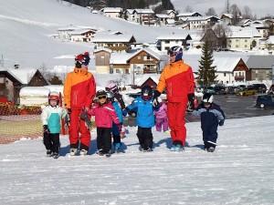 Spaß beim Skikurs