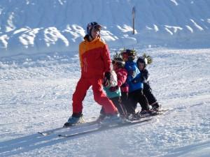 Pflug lernen beim Skikurs