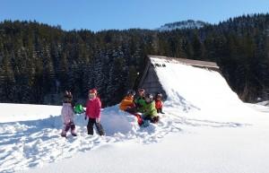 Spiele beim Skikurs