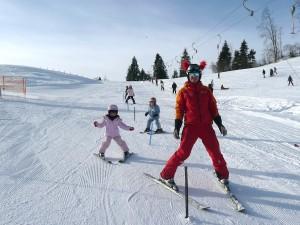 Skikurs beim Tellerlift