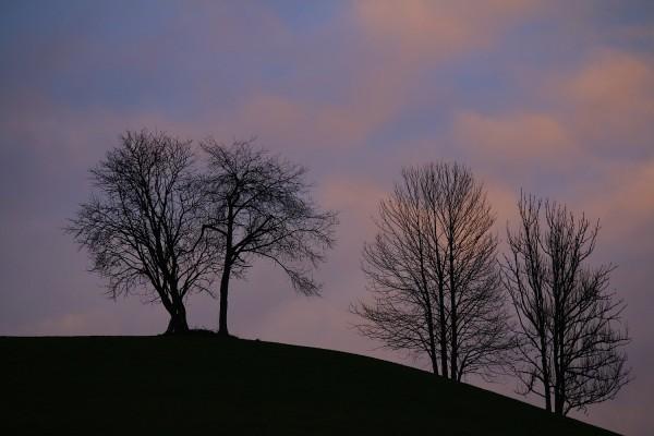 Letztes Licht am Himmel