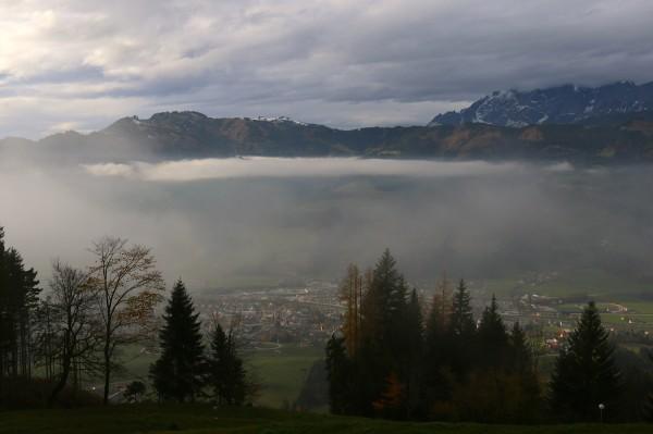 auch wenn der Nebel unter uns und Wolken über uns sind - es ist schön hier oben!