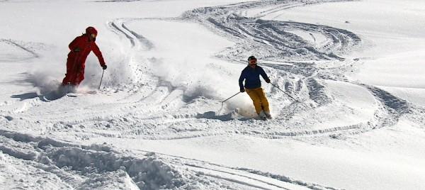 Flockiger Tiefschnee - da lacht das Skifahrerherz!