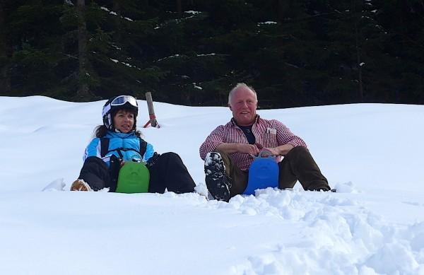 Spass im Schnee - Ostern